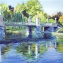 Boston's Public Gardens Bridge - by Becky DiMattia