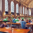Bates Hall at the Boston Public Library - by Becky DiMattia
