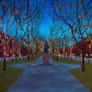 Comm Ave in December - by Becky DiMattia