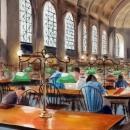 Bates Hall at the Boston Public Library - by Becky DiMattia