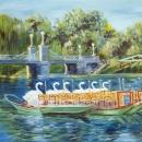 Swan Boats in Boston's Public Gardens  - by Becky DiMattia
