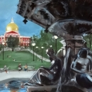 Brewer Fountain at Boston Common  - by Becky DiMattia