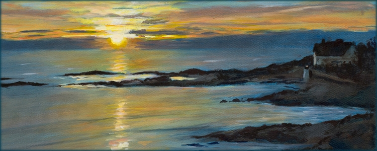 Becky DiMattia paintings - Ogunquit sunrise - for slider