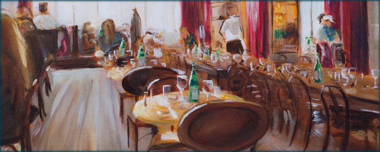 Becky DiMattia paintings - Restaurant - for slider