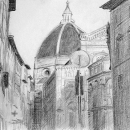 Il Duomo, First View - by Becky DiMattia