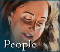 Becky DiMattia's painting of Maureen: image link to gallery of paintings of people