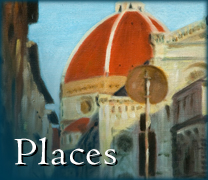 Becky DiMattia's painting of Il Duomo (Florence): image link to gallery of paintings of places