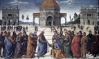 Perugino's Christ Handing the Keys to St. Peter