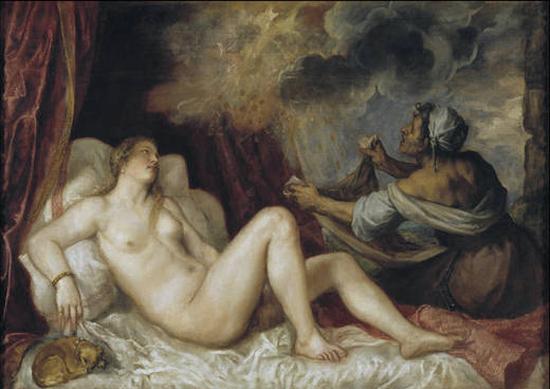Titian Danaë, 1553-54 Museo del Prado, Madrid