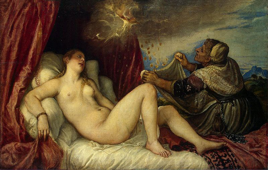 Titian Danaë, 1553-1554 The Hermitage, St. Petersburg